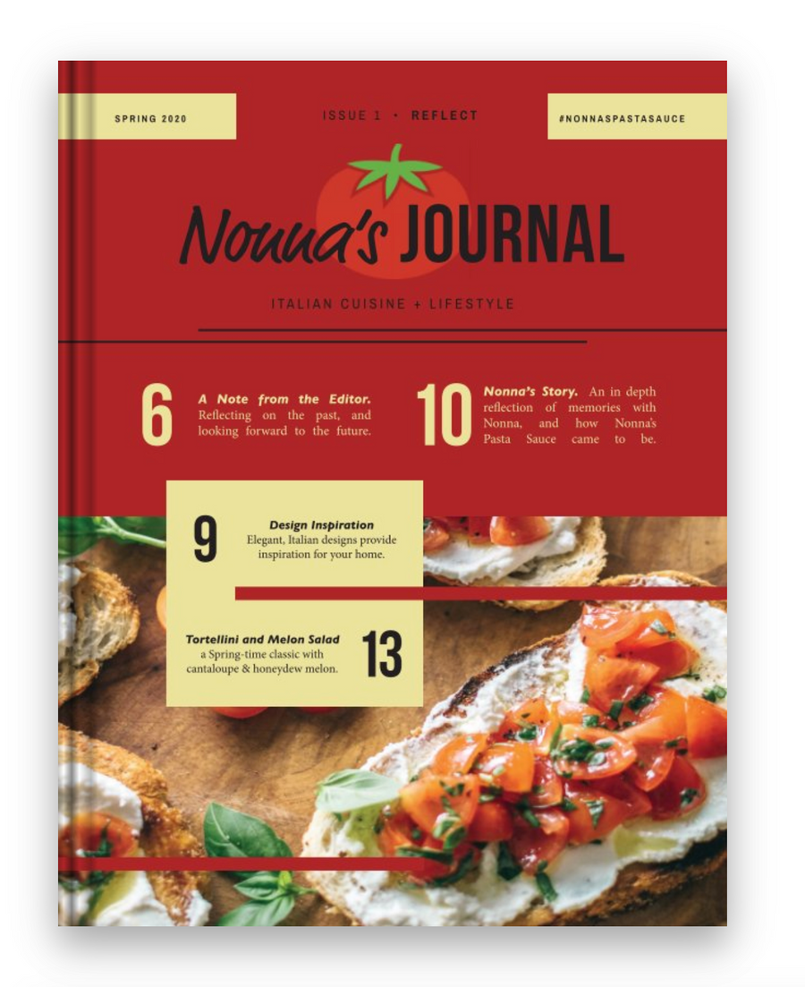 Nonna's Journal | Issue 1 | Reflect