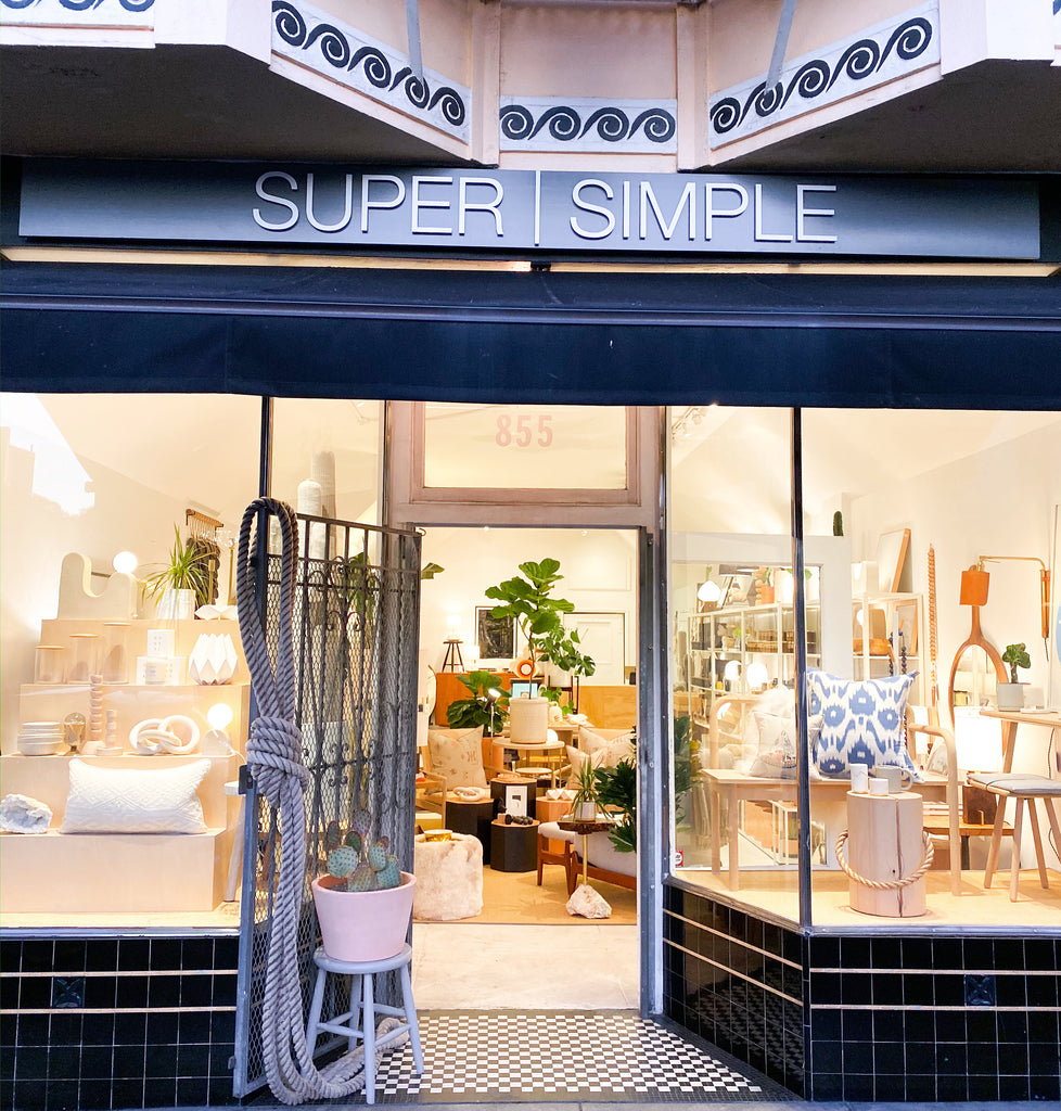SUPER SIMPLE 855 Valencia St. San Francisco, CA  94110 415-658-7685 shopsupersimple@gmail.com