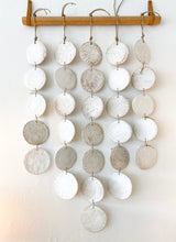 Load image into Gallery viewer, WHITE CERAMIC DISC WALL SCULPTURE
