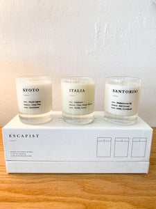 ESCAPIST MINI CANDLES - SET OF 3
