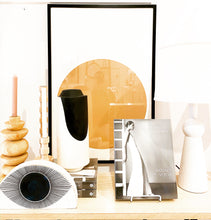 Load image into Gallery viewer, DRUM VASE - TALL BLACK & WHITE