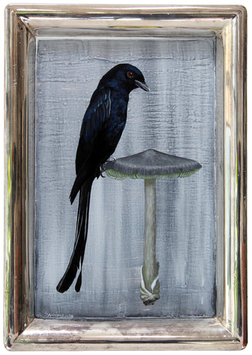BIRD PAINTING ON TRAY - DRONGOO