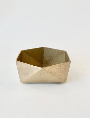 BRASS ORIGAMI BOWL - SMALL