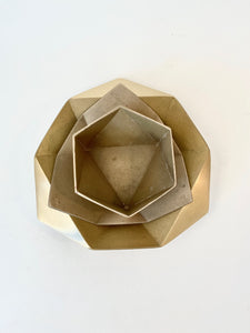 BRASS ORIGAMI BOWL - LARGE