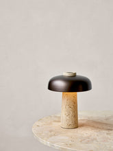 Load image into Gallery viewer, TRAVERTINE TABLE LAMP