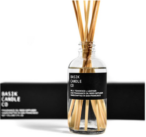 REED DIFFUSER BASIK NO. 3 - TEAKWOOD + LEATHER