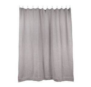 SIMPLE WAFFLE SHOWER CURTAIN - LIGHT GREY