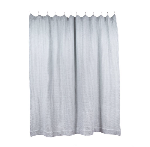 SIMPLE WAFFLE SHOWER CURTAIN - SKY