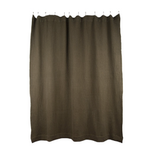 Load image into Gallery viewer, SIMPLE WAFFLE SHOWER CURTAIN - OLIVE