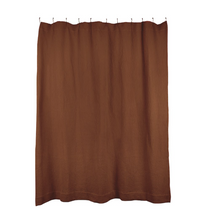 Load image into Gallery viewer, SIMPLE WAFFLE SHOWER CURTAIN - TERRA COTTA