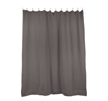 Load image into Gallery viewer, SIMPLE WAFFLE SHOWER CURTAIN - DARK GREY