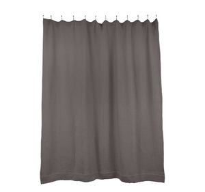 SIMPLE WAFFLE SHOWER CURTAIN - DARK GREY