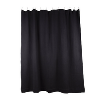 Load image into Gallery viewer, SIMPLE WAFFLE SHOWER CURTAIN - BLACK