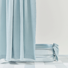 Load image into Gallery viewer, SIMPLE WAFFLE SHOWER CURTAIN - SKY