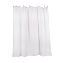 Load image into Gallery viewer, SIMPLE WAFFLE SHOWER CURTAIN - WHITE