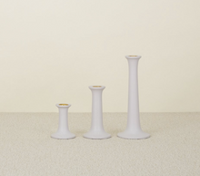 Load image into Gallery viewer, SIMPLE WOOD CANDLESTICKS - GREY