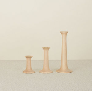 SIMPLE WOOD CANDLESTICKS - MAPLE