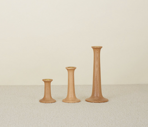 SIMPLE WOOD CANDLESTICKS - OAK