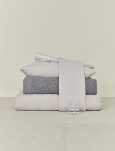 LINEN BEDDING - LIGHT GREY
