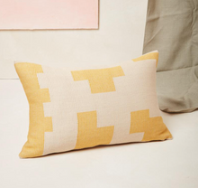 Load image into Gallery viewer, PUZZLE LUMBAR PILLOW - LEMON