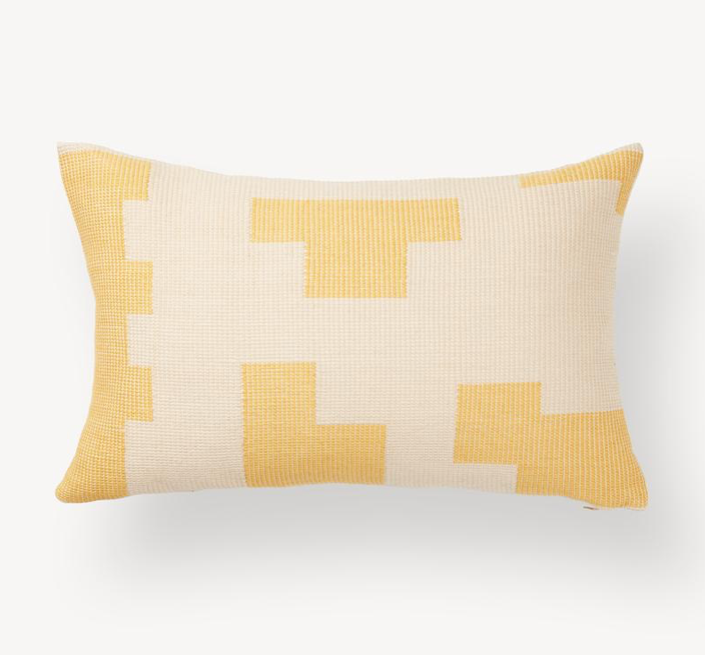 PUZZLE LUMBAR PILLOW - LEMON