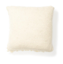 Load image into Gallery viewer, MOON SHAG PILLOW - CREAM