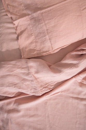 LINEN BEDDING - BLUSH