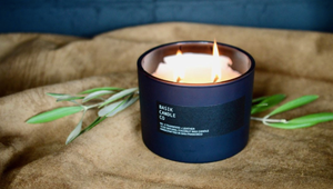 BASIK CANDLE NO. 3 - TEAKWOOD + LEATHER