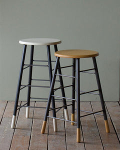 GORDON STOOL - WHITEWASH