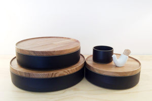 HASAMI PORCELAIN XXLARGE BOWL + LID - BLACK