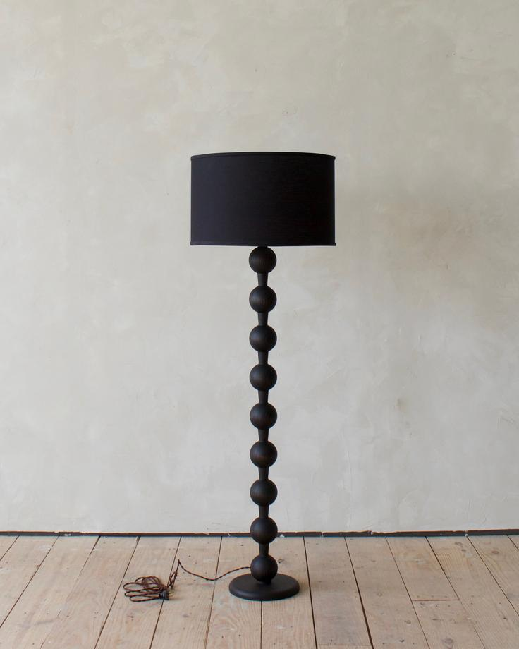 HUGO BARBELL FLOOR LAMP - DARK WASH