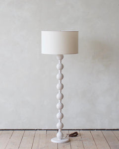 HUGO BARBELL FLOOR LAMP - WHITE WASH