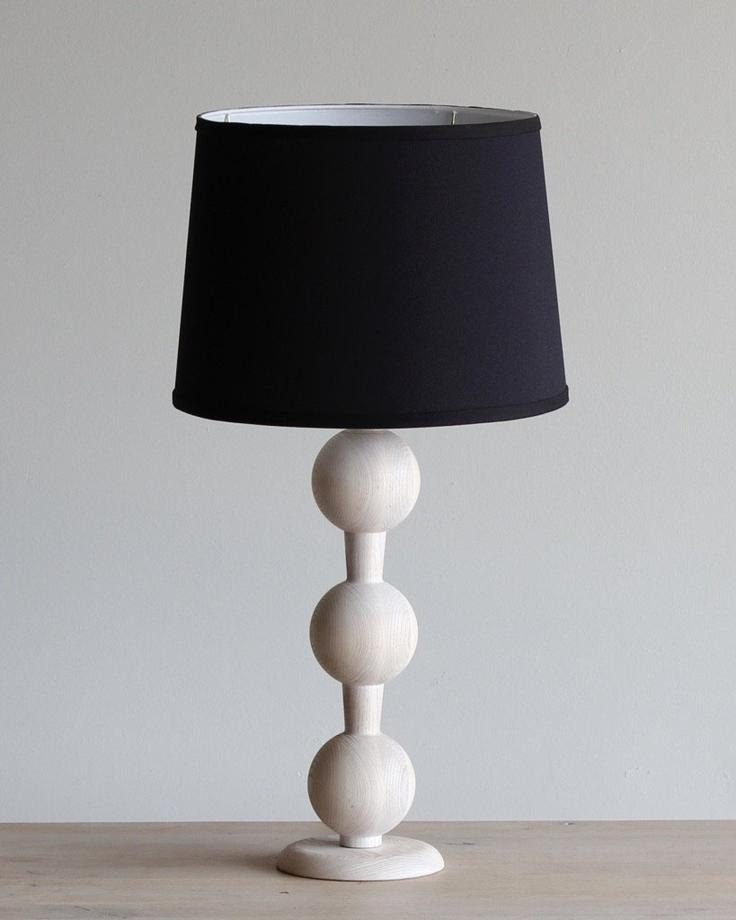 HUGO BARBELL TABLE LAMP - WHITE WASH