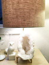 Load image into Gallery viewer, PAIR OF QUARTZ GEODE LAMPS