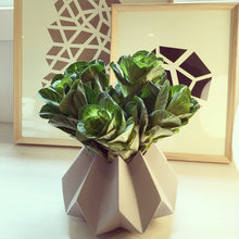 Load image into Gallery viewer, WIDE ORIGAMI VASE - LIGHT GREY