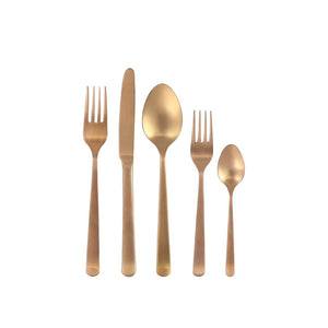 OSLO FLATWARE SET - MATTE COPPER