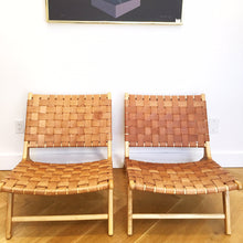 Load image into Gallery viewer, LEATHER STRAP LOUNGE CHAIR
