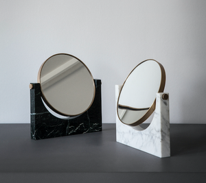 PEPE MIRROR - BROWN MARBLE