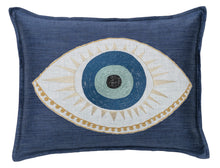 Load image into Gallery viewer, EVIL EYE APPLIQUÉ PILLOW