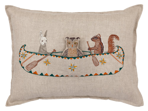 ANIMAL FRIENDS CANOE PILLOW