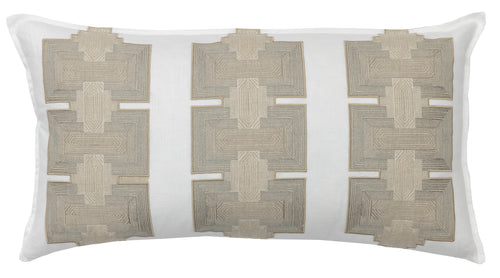 PILLAR APPLIQUÉ IVORY PILLOW
