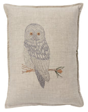 Load image into Gallery viewer, GREAT GREY OWL PILLOW