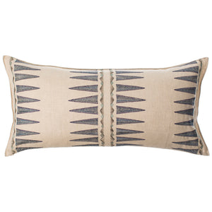 NAVY QUILL LUMBAR PILLOW