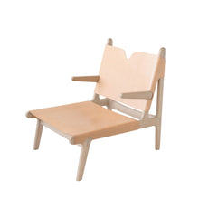 Load image into Gallery viewer, OAK & LEATHER BUCKLE CHAIR - NUDE