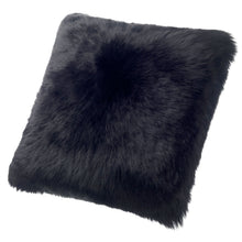 Load image into Gallery viewer, SHEARLING PILLOW - BLACK