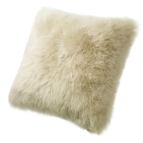 SHEARLING PILLOW - DARK LINEN