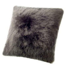 Load image into Gallery viewer, SHEARLING PILLOW - STEEL DARK GREY