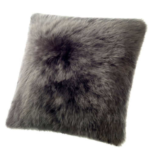 SHEARLING PILLOW - STEEL DARK GREY