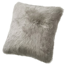 Load image into Gallery viewer, SHEARLING PILLOW - VOLE LIGHT GREY