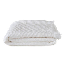 Load image into Gallery viewer, SIMPLE LINEN THROW BLANKET - WHITE